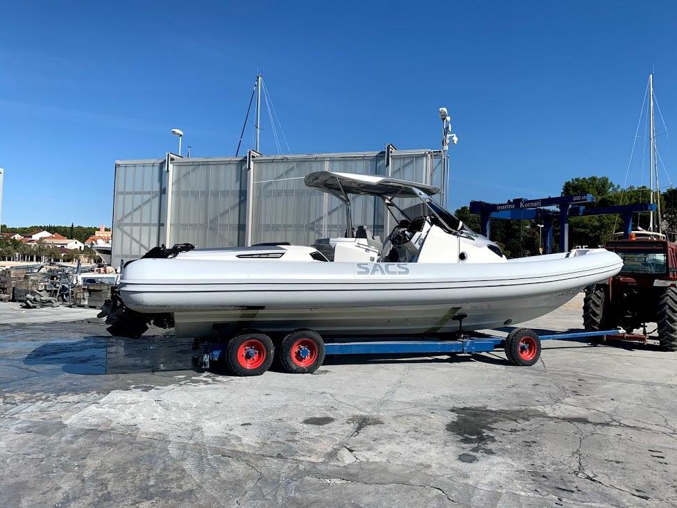 transport iz marine Kornati u dry marina biograd